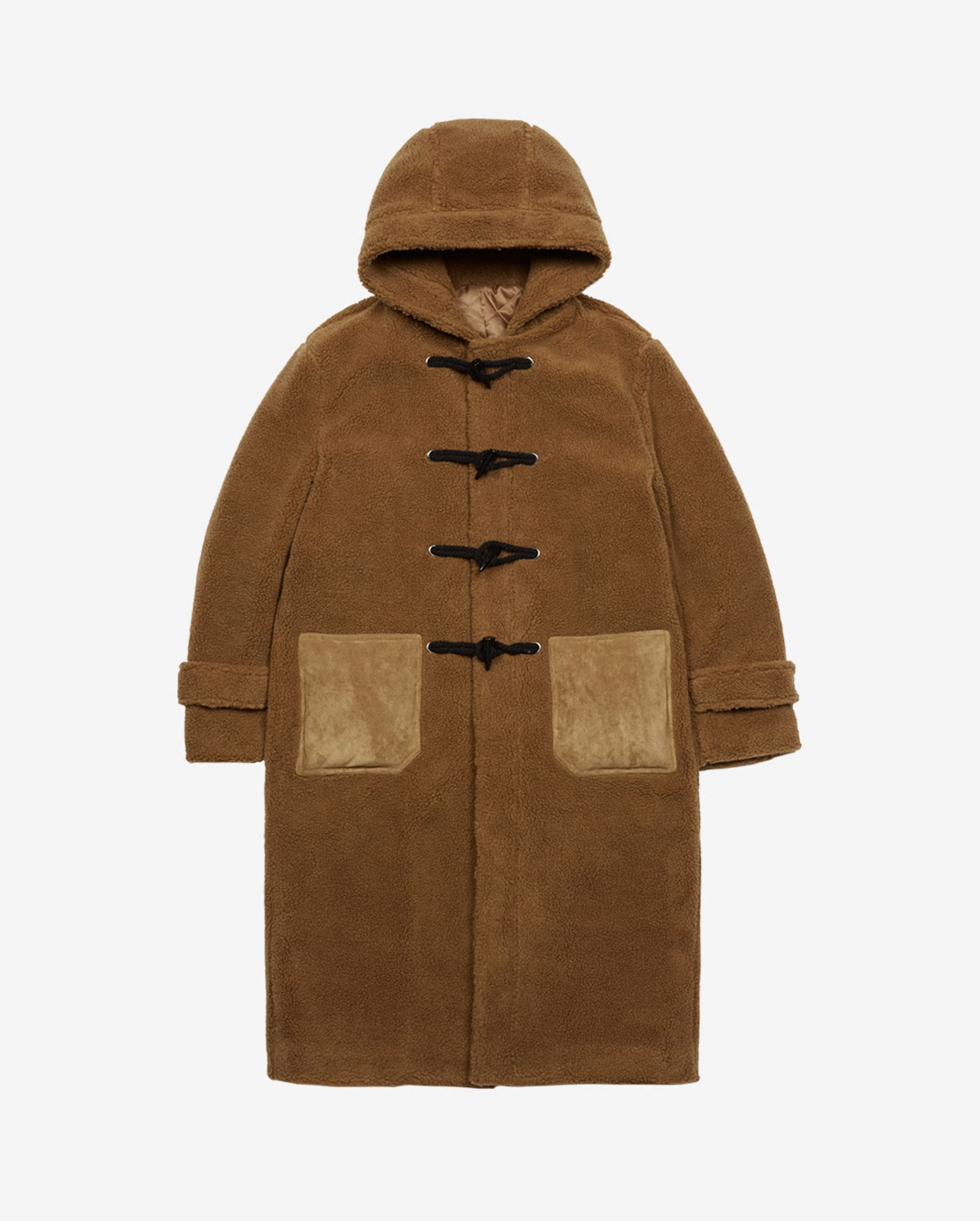 Lamb Duffle Coat Brown