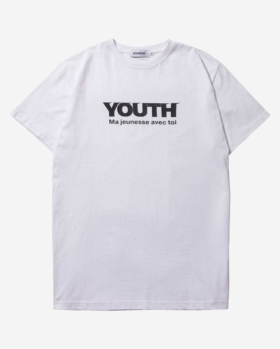 Youth S/S Tee White(Black Logo)