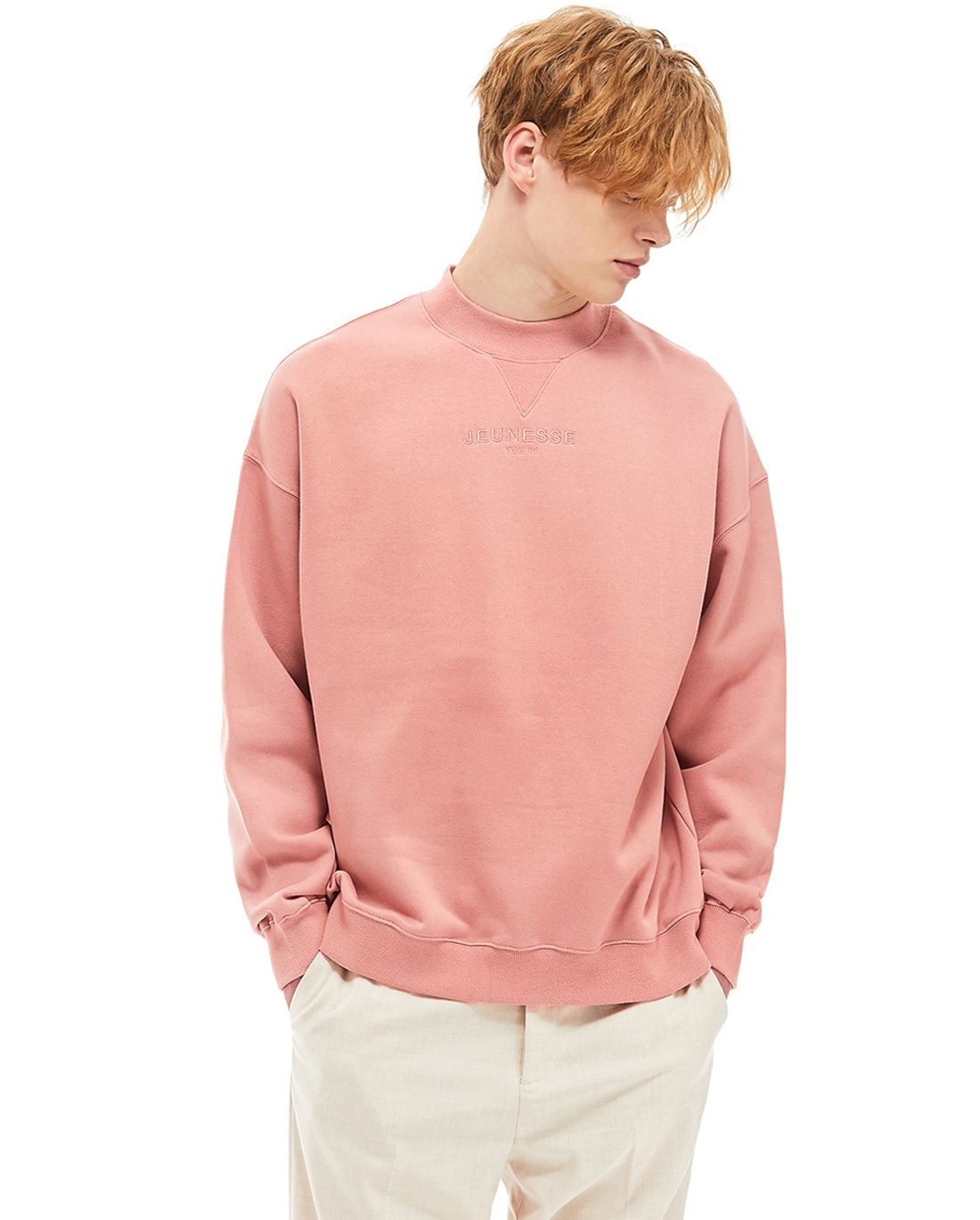 Mock Neck Sweatshirts Pink (기모)
