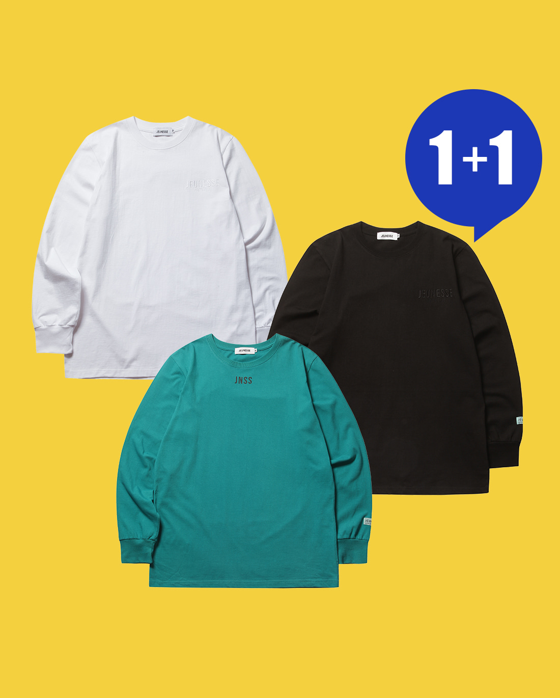 [1+1] Paint Back L/S Tee & Cupido Back L/S Tee