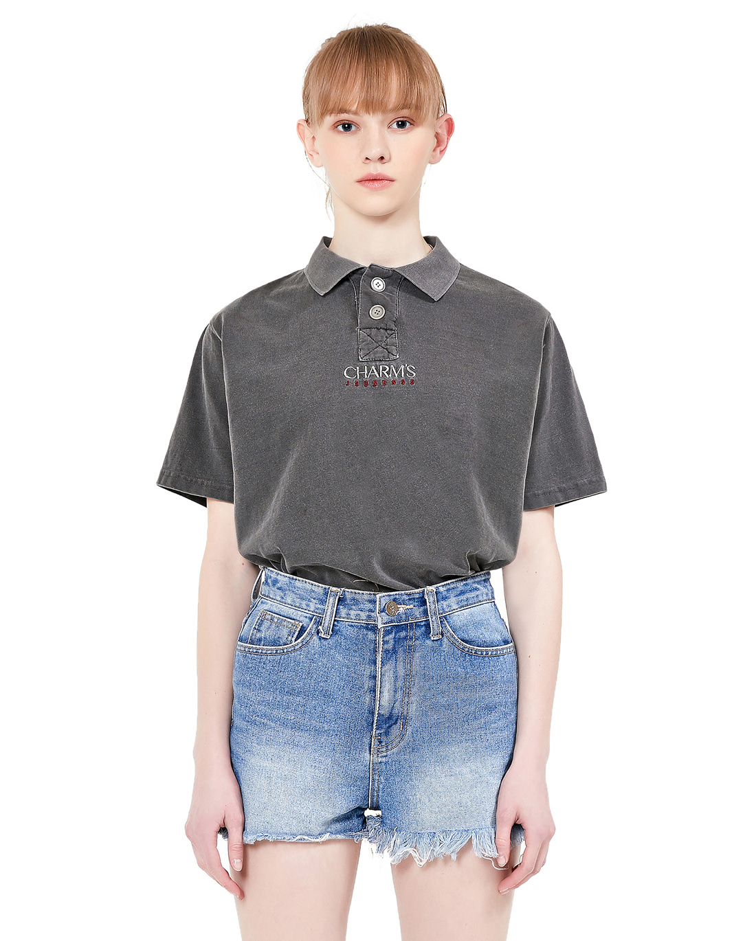 Jeunesse x Charms Short Sleeve Pique Tee Black