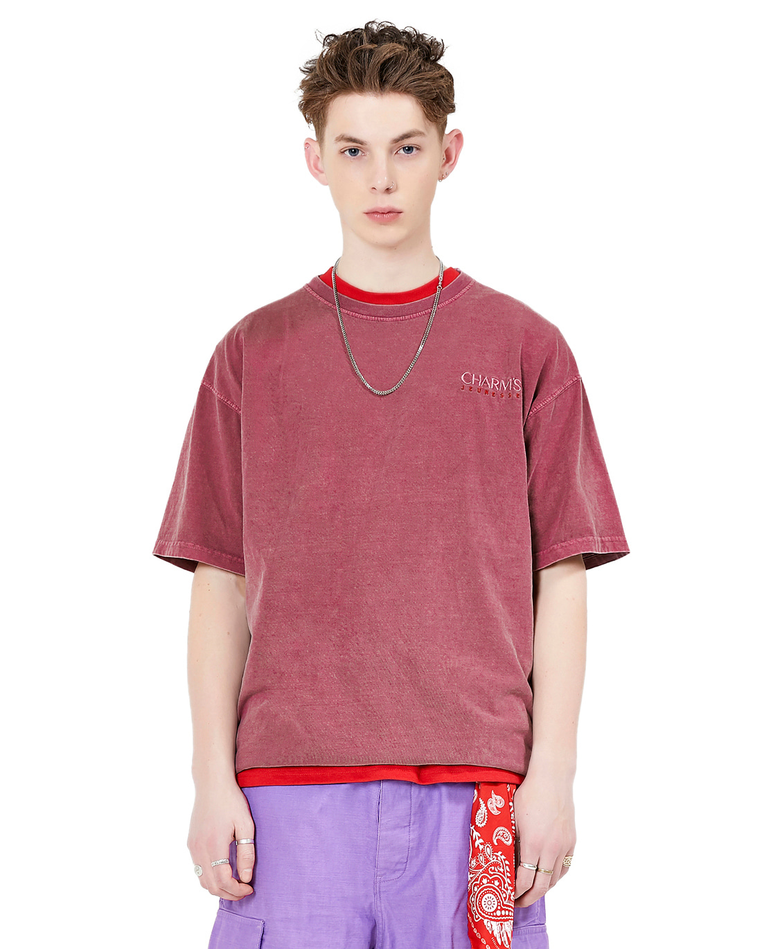 Jeunesse x Charms Small Logo Tee Red