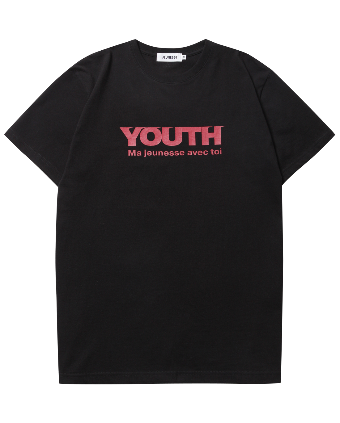 Youth S/S Tee Black(Red Logo)