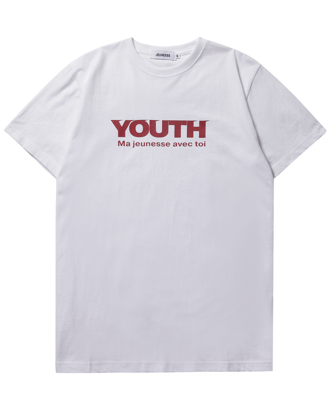 Youth S/S Tee White(Red Logo)