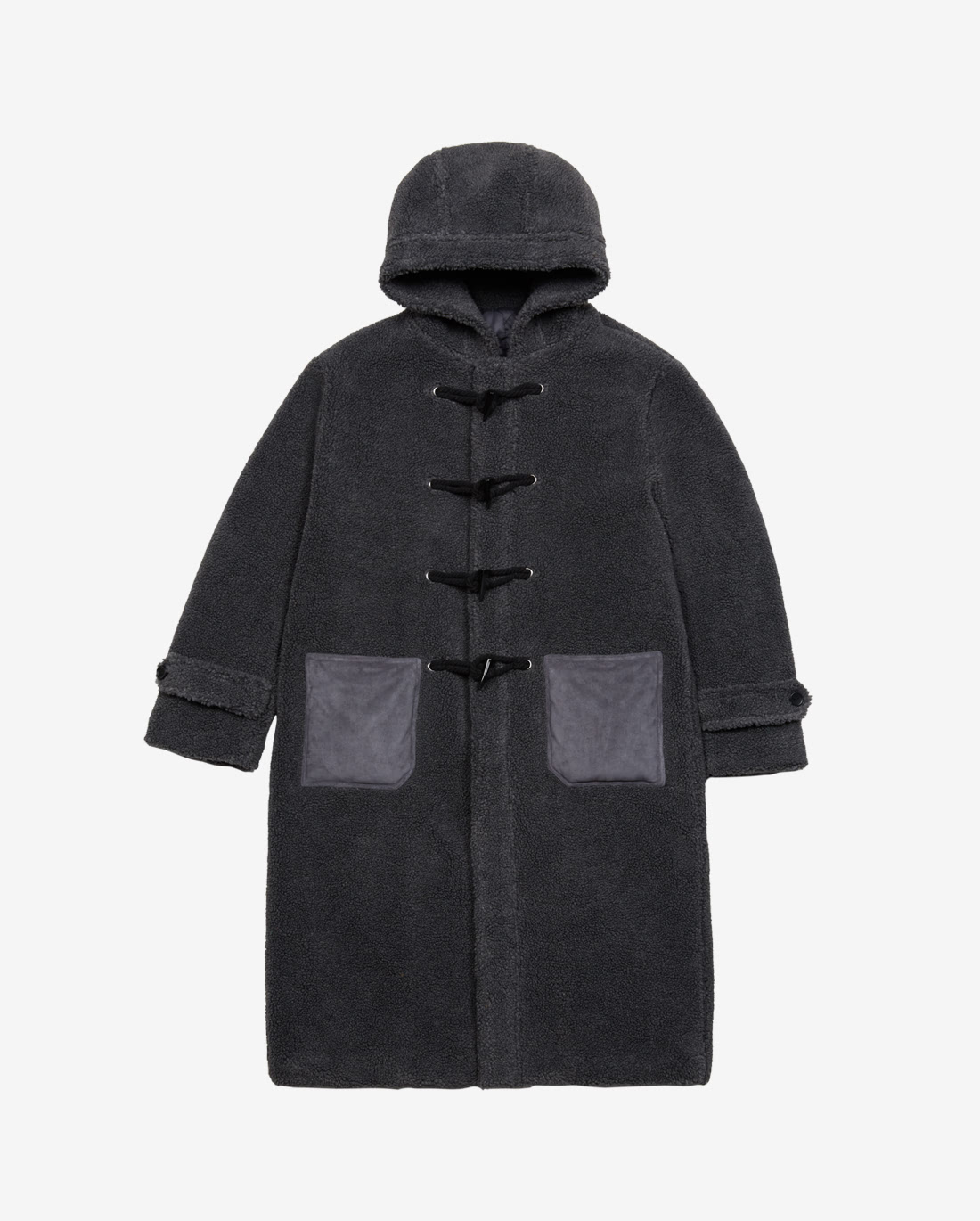 Lamb Duffle Coat Charcoal