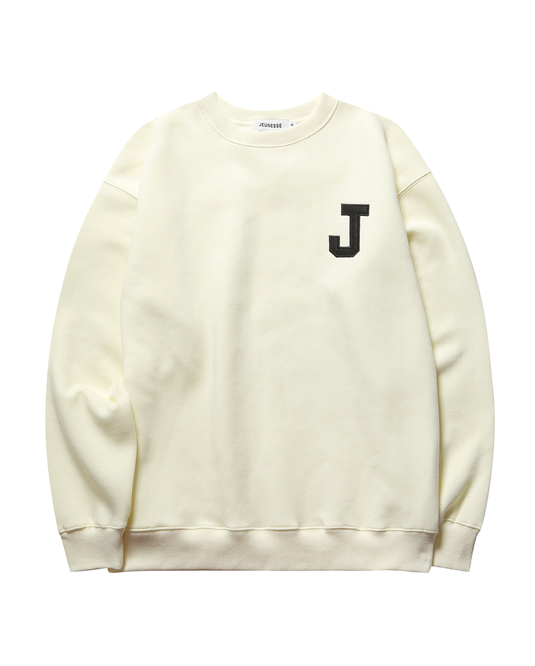 College J logo Sweatshirts Cream (기모)