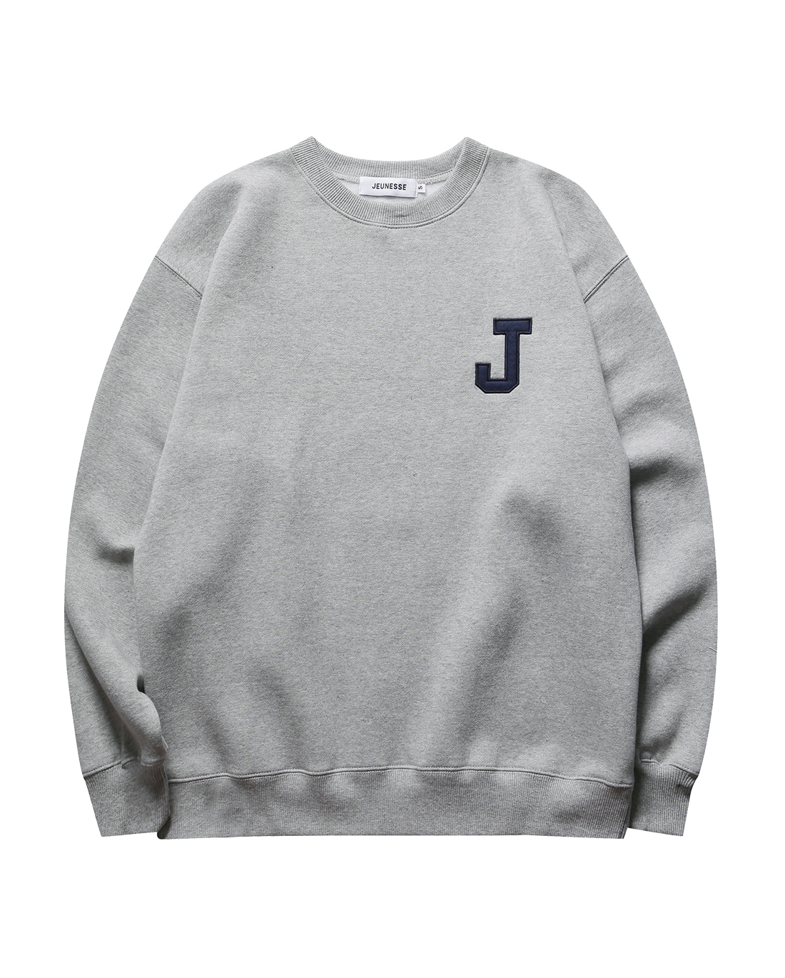 College J logo Sweatshirts Grey (기모)