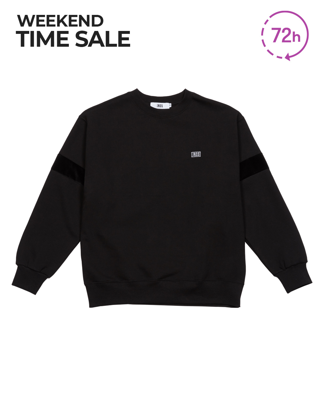 Velour Sweatshirt Black (FW Version 기모)